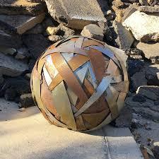 Garden Sphere Balls Time Sphere Sculpture Metal Sculpture Metal Sphere Garden Sphere