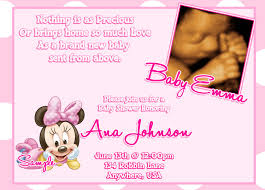 Invitation Cards Matter For New House Minnie Mouse Baby Shower Invitations Baby Minnie Mouse Baby