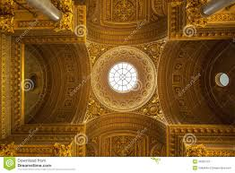 a luxury ceiling decoration in versailles palace in paris franc