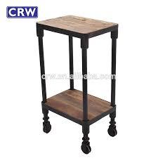 side table on casters antique 2 level side table with wheels buy side table with wheels