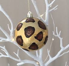 animal leopard zebra print decorated bauble 80mm wedding