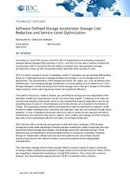 Software Sales Resume Examples by Software Defined Storage Accelerates Storage Cost Reduction
