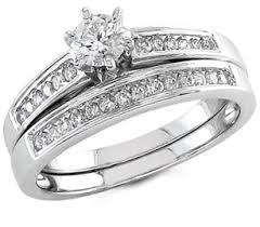 bridal ring set 1 2 carat diamond bridal set rings