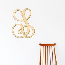 monogram letter s shop wood letters monogram wood letter