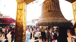 kathmandu nepal may 21 2016 closeup view of ornament of the