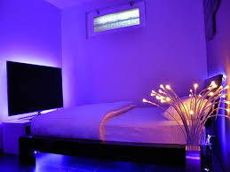 Bedroom Neon Lights Minimalist Bedroom Design With Neon Led Light For Bedroom