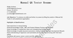 Software Tester Resume Sample by Quality Assurance Manual Template Contegri Com