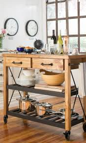 Metal Kitchen Island Tables Best 25 Rolling Kitchen Island Ideas On Pinterest Rolling
