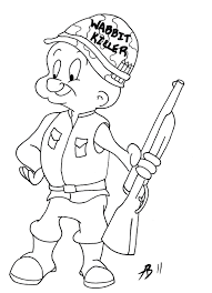 elmer fudd coloring pages glum me