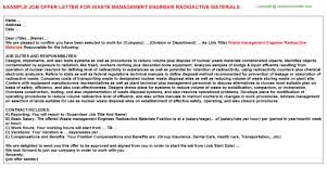 Management Trainee Job Offer Letters