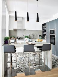 cuisine ouverte avec ilot table cuisine avec ilot bar source d inspiration cuisine ouverte avec ilot