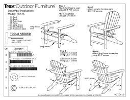 trex outdoor furniture txs117 1 cape cod 2 piece adirondack set