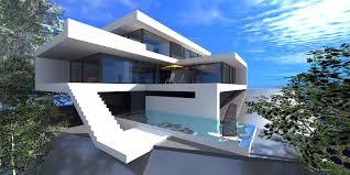 elegant small white architecture exterior concept house design