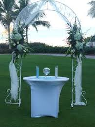Wedding Arches Decorated With Tulle Wedding Arch Covered With Tulle And Accented With Flowers