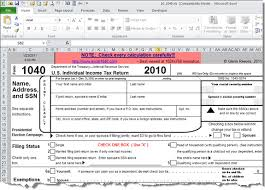 Form To Spreadsheet Free Spreadsheet Based Form 1040 Available For 2010 Tax Year