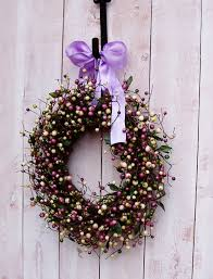 home decor wreath lavender wreath front door wreath wedding wreath