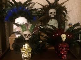 Aztec Halloween Costume Voodoo Preistess Gypsy Cannibal Crown Swamp Skull Rose Hoodoo Dead
