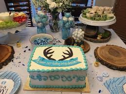 my cute baby shower cake with deer theme bundles of joy