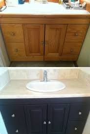 Update Bathroom Vanity Chalk Paint Bathroom Vanity Makeover A Review Step By