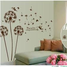 stickers d oration chambre b grand b style romantique pissenlit wall sticker chambre fond