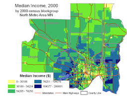 Map Of Twin Cities Metro by Northern Suburbs Demographics Overview Mage