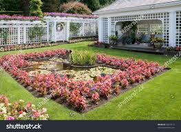 Famous Gardens Formal English Garden Famous Butchart Gardens Stock Photo 53218177