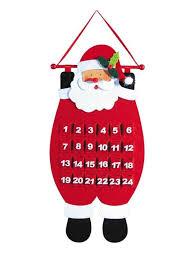 Christmas Decoration Santa Claus by Amazon Com Decorative Santa Advent Calender Hanging Christmas