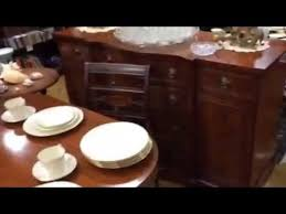 Duncan Phyfe Dining Room Set Duncan Phyfe Dining Room Table Set At Gannon U0027s Antiques Youtube