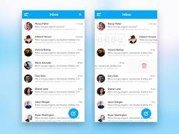 mail app design by bootstrap guru sketch freebie freebie supply