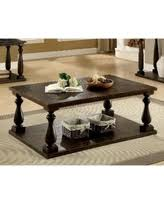 furniture of america crete vintage walnut coffee table on sale now 30 off furniture of america remmy classic open shelf