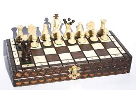 the unique chess set made of a natural material rare earth metal