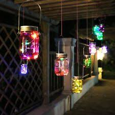 Solar Lights Patio by Hanging Solar Lights Ebay