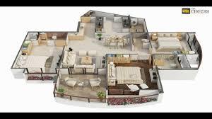 3d floor plan home villa hotel rendering youtube
