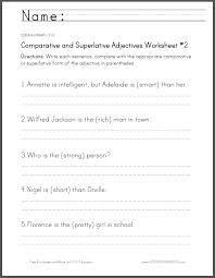 comparative and superlative adjectives worksheet 2 student handouts