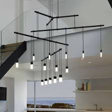 led suspended ceiling lighting suspenders 36 inch 4 tier tri bar 15 light led suspension system