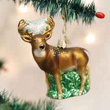 world whitetail deer glass blown