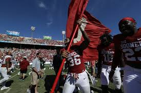 Flag Of Oklahoma Oklahoma Vs Texas Sooners Plant Their Flag Again Sbnation Com