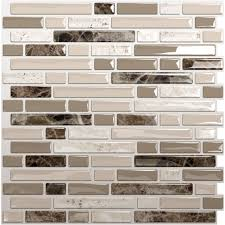 Peel And Stick Kitchen Backsplash Sample Aluminum Mosaic Tile - Peel and stick wall tile backsplash