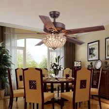 ceiling fan in dining room rainierlight classical crystal ceiling fan lamp led light for