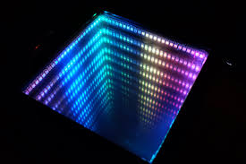 Infinity Mirror Desk Neopixel Infinity Mirror And Abstract Code Animations Enviral Design