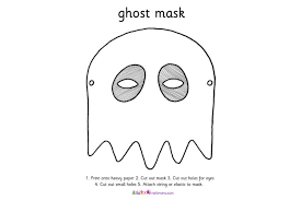 ghost mask template scourge project ghost mask papercraft free