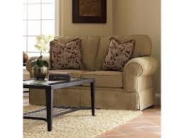 Couch Angled View Klaussner Woodwin Upholstered Loveseat Old Brick Furniture