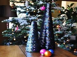 sparkly sequin trees