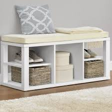 Wood Bench With Storage Entryway Benches Threshold Windham Entryway Bench Entryway