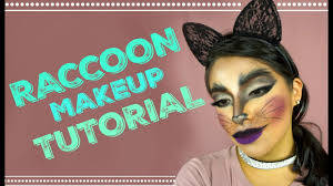 halloween makeup cute halloween makeup tutorial ep1 cute raccoon cute cat