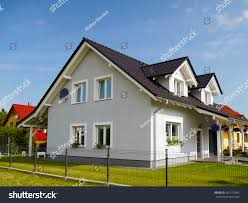 gamble roof grey house black gable roof stock photo 467112404 shutterstock