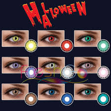 Halloween Costume Contact Lenses Freshgo Yellow Red Green White Monster Crazy Lens Halloween