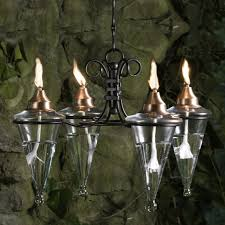 Patio Torch Lights by Hanging Torch Chandelier Hayneedle