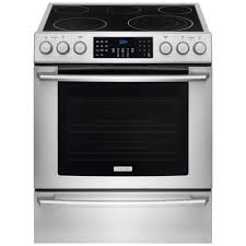 Cooktop Electric Ranges Electrolux Iq Touch 4 6 Cu Ft Electric Range With Front Controls