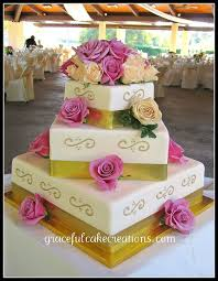 square wedding cakes best 25 gold square wedding cakes ideas on pastel